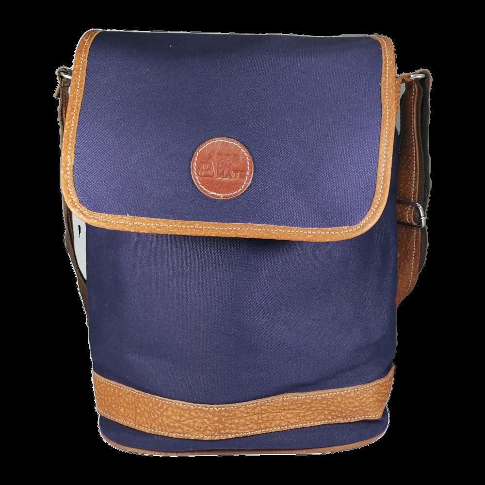 Bolso Roble c-tapa Azul BL210